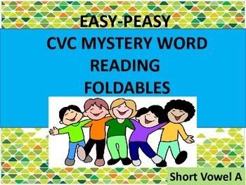 CVC Mystery Word Reading Foldables Short A