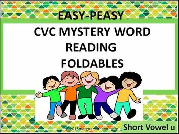 CVC Mystery Word Reading Foldables Short U
