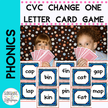 CVC Word Work One Different Game to reinforce CVC Word Rec