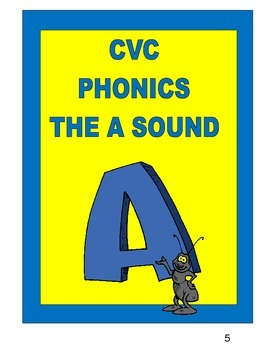 CVC PHONICS  THE A SOUND