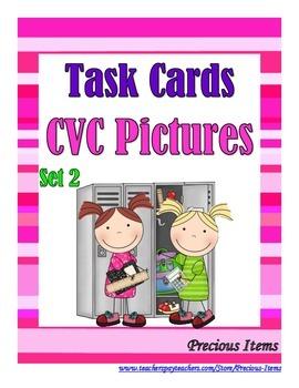 CVC Pictures Set 2 - Task Cards
