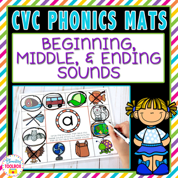 CVC Phonics Mats Beginning, Middle, & Ending Sounds