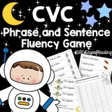 CVC phrase and sentence fluency review game