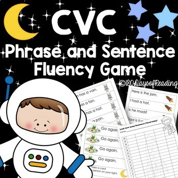 CVC phrase and sentence fluency for the first days of school!