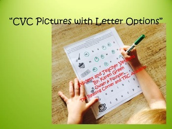 CVC Pictures with Letter Options