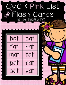 CVC & Pink Series Flash Cards - BASIC