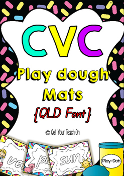 CVC Play dough Mats {QLD Font}