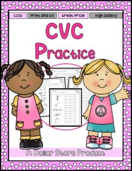 CVC Practice FREE (beginning, medial, final sounds)