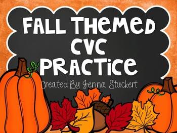 CVC Practice (Fall Themed)