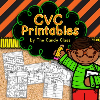 CVC Word Activities (Hands-On No Prep Printables for Short