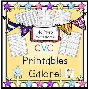 CVC Printables Galore!