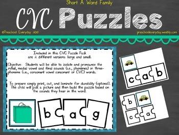 CVC Puzzle Pack