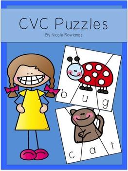 Word Work - CVC Puzzles