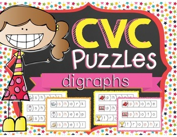 CVC Puzzles  - DIGRAPHS