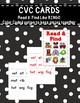 CVC Words Read & Find Literacy Center Activity and Games