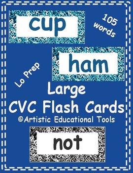 CVC Rhyming Word Family Large Flash Cards