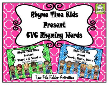 CVC Rhyming Words File Folder Set