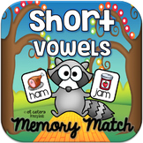 Short Vowel CVC Rhyming Words Memory Match ~ Interactive P