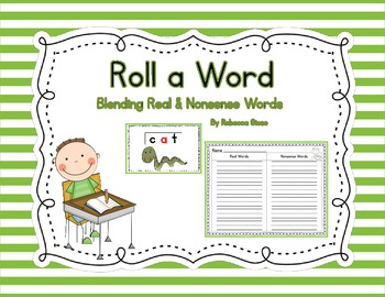CVC Roll a Word {Real & Nonsense Words}