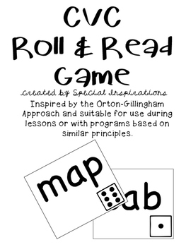 CVC Roll and Read Game (Orton-Gillingham Inspired)
