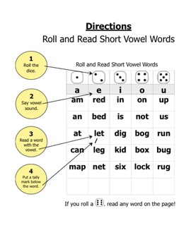 CVC Roll and Read activity
