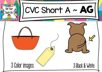 CVC Short A Clip Art ~ AG