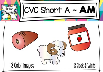 CVC Short A Clip Art ~ AM