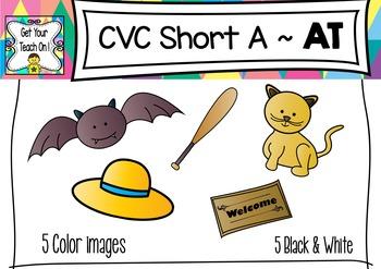 CVC Short A Clip Art ~ AT