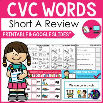 CVC Worksheets - Short A CVC Words