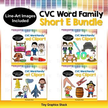 CVC Short E Clip Art Bundle