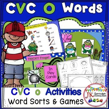CVC Short O Literacy Center Work: Frog Fun!
