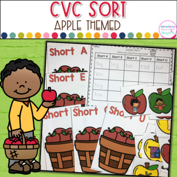 CVC-Short Vowel Apple Sort