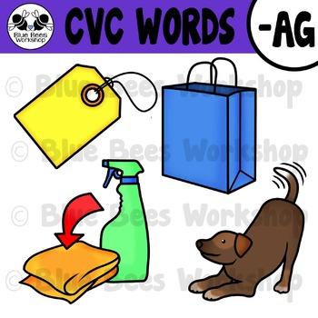 CVC Short Vowel Clip Art - AG