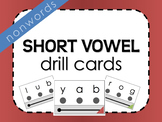 Short Vowel Nonword Drill Cards (w/ visual support!)