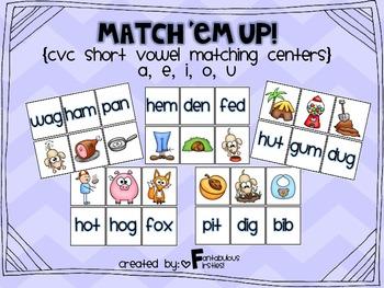 Short Vowel CVC Word Match