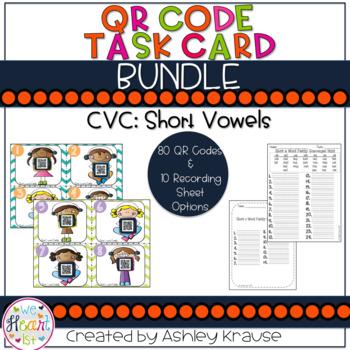 CVC: Short Vowel QR Code BUNDLE