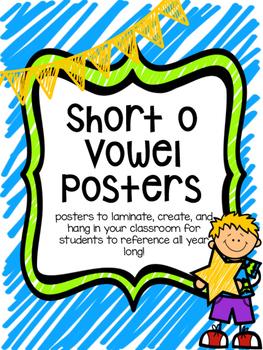 CVC Short o Vowel Family Posters