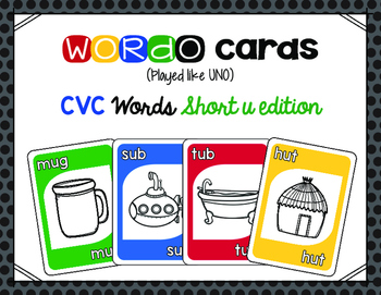 CVC Short u Card Game