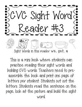 CVC Sight Word Reader #3