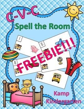 CVC Spell the Room FREEBIE
