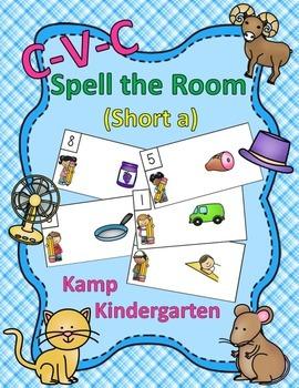 CVC Spell the Room (Short a)