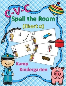 CVC Spell the Room (Short o)