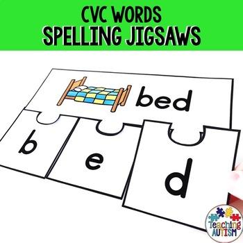 CVC Spelling Jigsaws