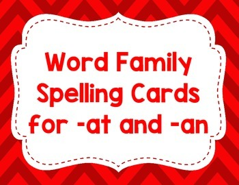 CVC Spelling cards for -at and -an