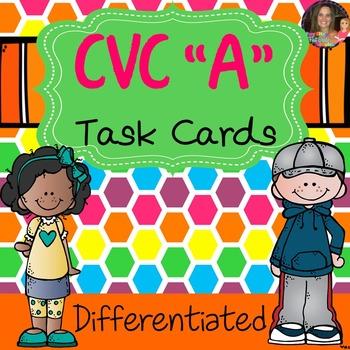 CVC Task Cards Short Vowel A
