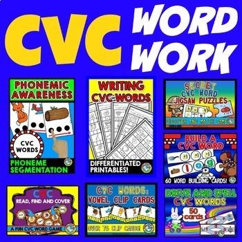 CVC ACTIVITIES: CVC WORDS CENTERS: CVC WORDS PRINTABLES: C