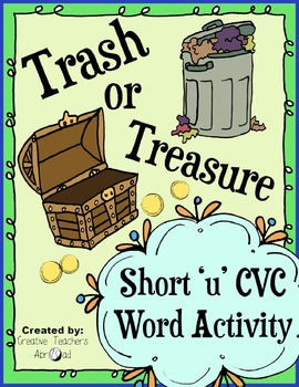 CVC Word Activity - Short 'u'