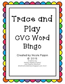 CVC Word Bingo Trace and Play