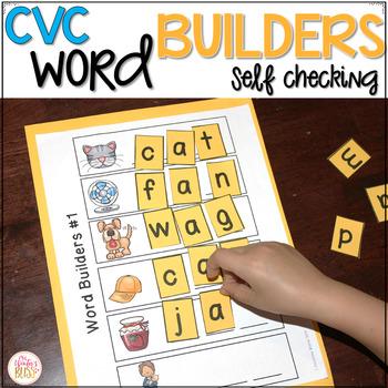 CVC Word Builders {Self Checking!}