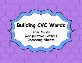 CVC Word Building Task Cards Activity